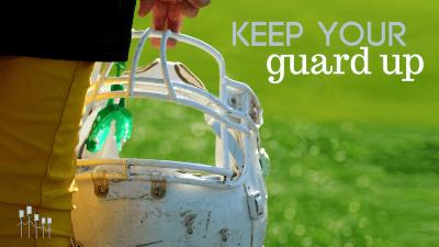 Football Helmet With Tagline